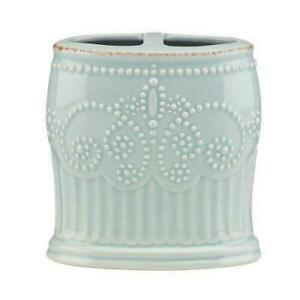 Lenox FRENCH PERLE GROOVE ICE BLUE Toothbrush Holder ...