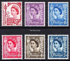 GB QEII Jersey 1958-69 Pre-Decimal Wilding Definitives Set of 6 Unmounted Mint