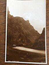 c1950 B/W Postcard Cheddar Gorge Somerset Old Car Real Photo