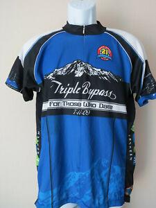 vtg-Blue-PRIMAL-CYCLING-JERSEY-Triple-Bypass-Colorado-2009-Large-3-pocket