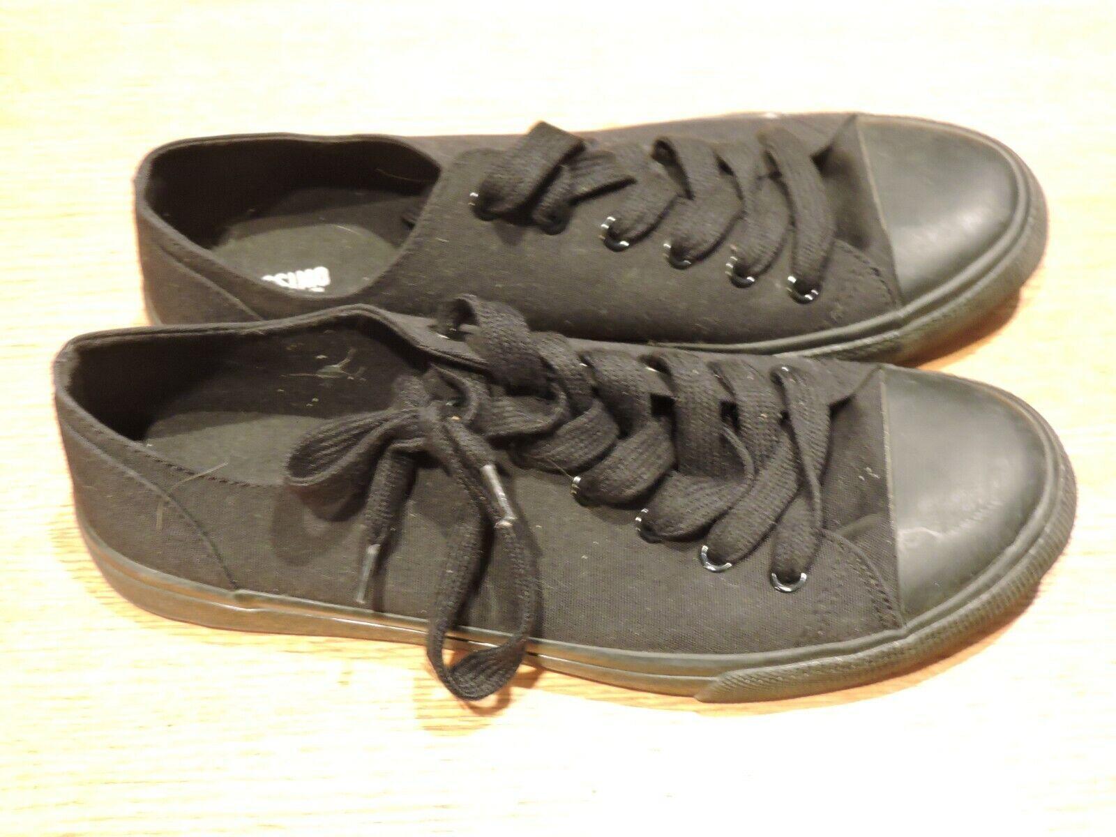 MOSSIMO pour femme Noir Toile Baskets Chaussures, lacets, taille 9 M Cap Toe