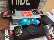 Ray-Ban Polarized Aviator Blue Mirror Flash Lens Gold Frame RB3025 112/4L 58mm