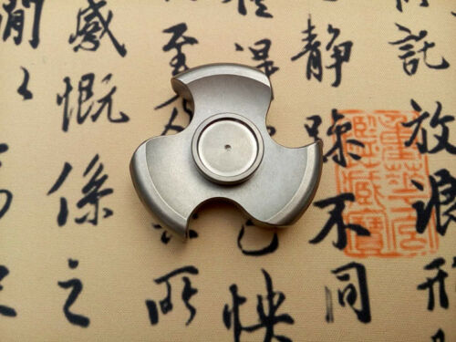 FEGVE Tri Fidget Hand Spinner Triangle Titanium Alloy Finger focus Toy EDC