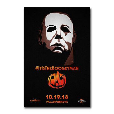 Halloween 2018 Horror Movie Art Canvas Poster 8x12 12x18 inch