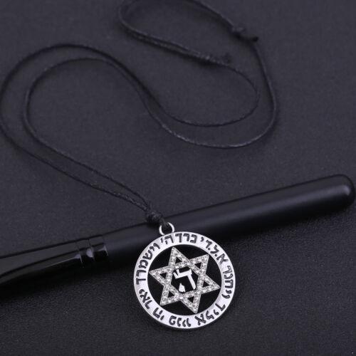 Jewish Symbol Amulet Star of David Hebrew Letter HAY Pendant Talisman Necklaces