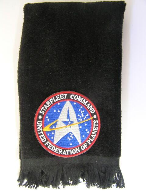 Starfleet Command fingertip towel FREE SHIP Star Trek black United Federation