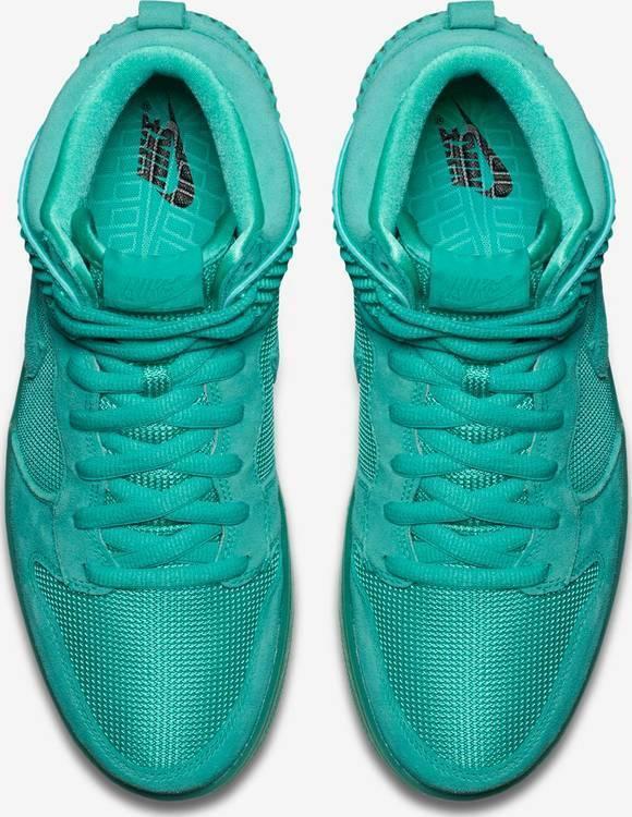 Nike Dunk High High High CMFT PRM MINT Glow in the Dark SB Light Retro Men's sz 12 shoes 1448ab