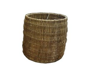 Rattan-Wicker-Lampshades-Table-Lamp-Ceiling-Retro-Drum-Basket-Grey-Kitchen-Tall