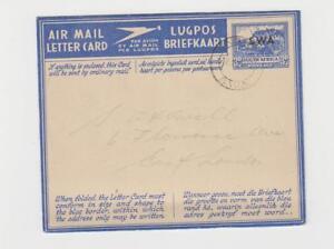 South-West-Afrique-1948-3d-Poste-Aerienne-Lettre-Carte-a-East-Londres