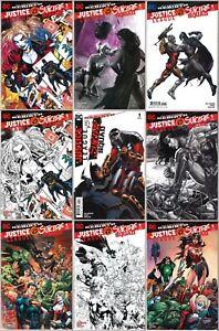 LOT-of-9-Justice-League-vs-Suicide-Squad-1-9-8-Comic-Variants-2017-DC-CGC-it