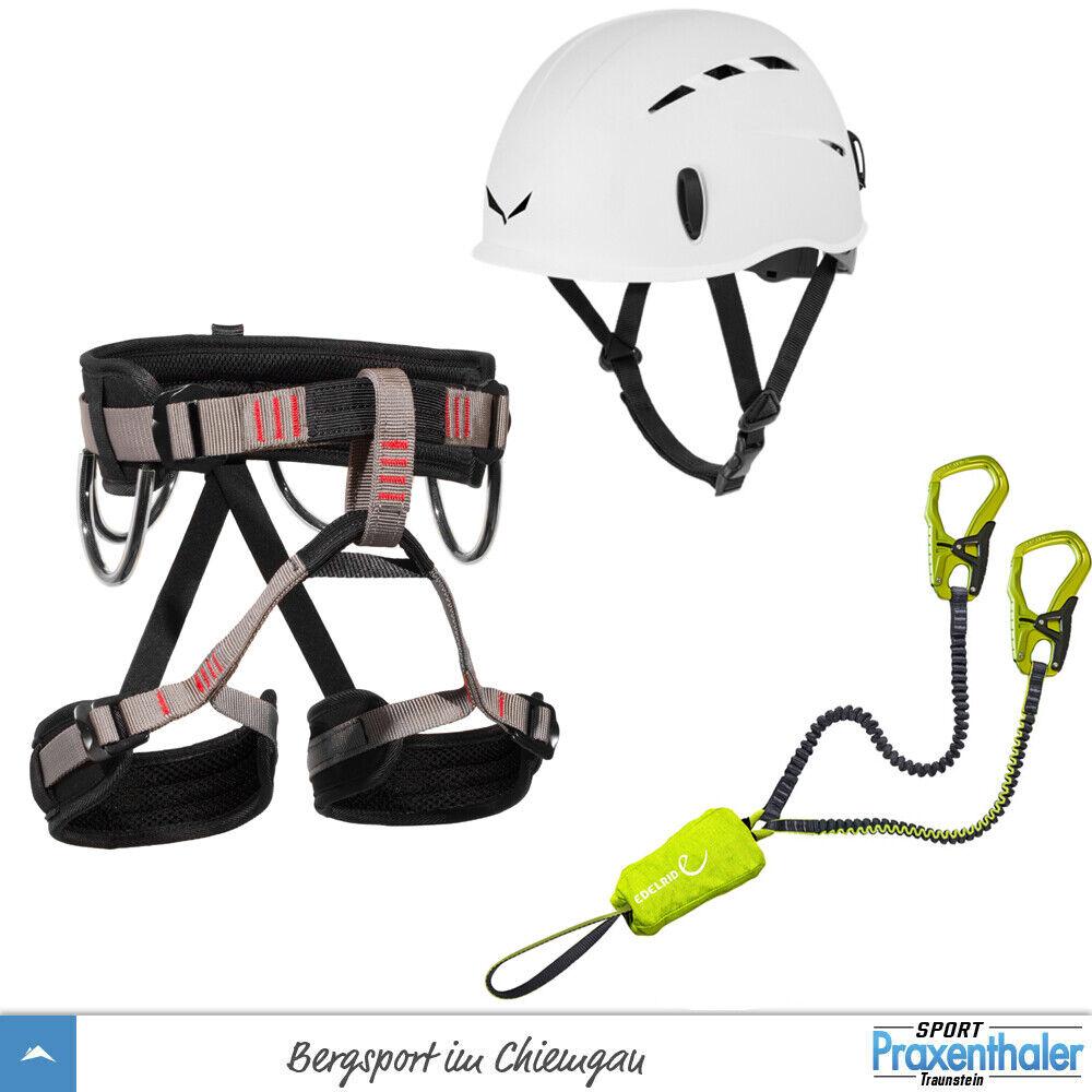 Klettersteigset Edelrid Cable Kit 5.0 + Gurt LACD Start + Salewa Toxo