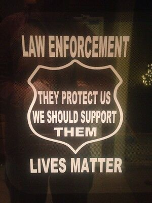 NYPD Police Dept Law Enforcement Lives Matter Cops Decal Support Sticker