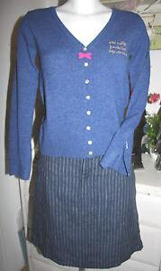 Striped Blue Rock Noa Size Xl Linen Skirt Neu t1U1qzw