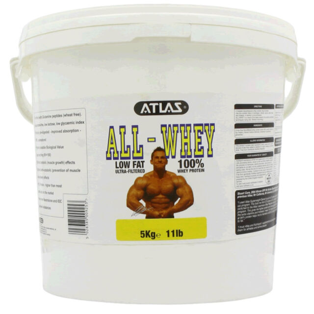 ATLAS ALL WHEY PROTEIN POWDER SHAKE MUSCLE GROWTH - 5KG - ALL FLAVOURS