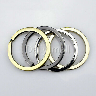 GOLD HEART DOUBLE LOOP SPLIT KEY RING CRAFTS FINDINGS KEYRINGS 30mm