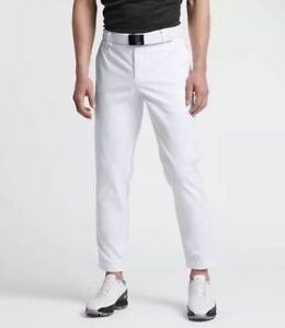 Nike Golf Pants Modern Cropped Washed Style Mens Size 34 White Msrp