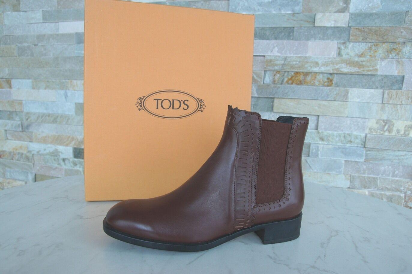 TOD S Tods 36 Bottines Chelsea Boots Bottes Ehemuvp Chaussures Marron Neuf  Ehemuvp Bottes b445e4 ceb024e70176