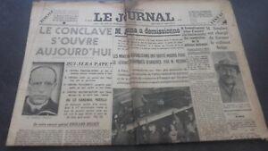 JOURNAUX-LE-JOURNAL-N-16933-MERCREDI-1ER-MARS-1939-ABE