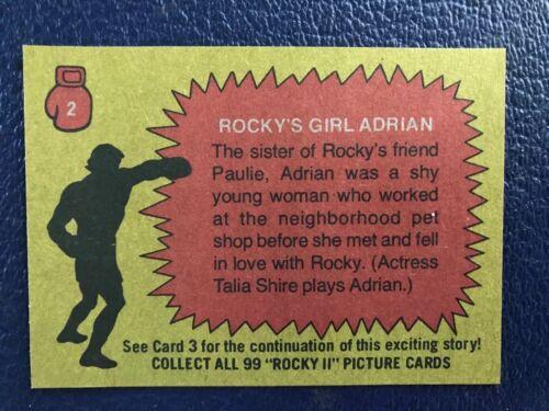 """""""Rocky's Girl, Adrian"""" ROCKY II ~ 1979 Topps #2"""