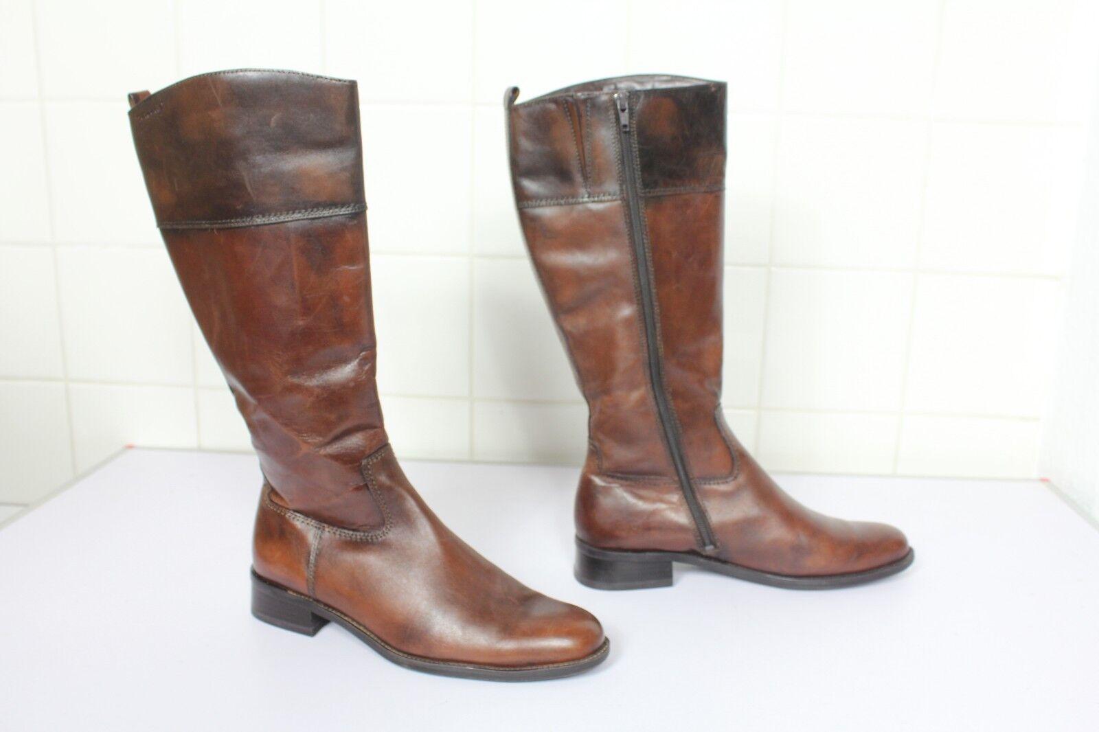 Tamaris elegante High botas botas de cuero genuino marrón eu 39