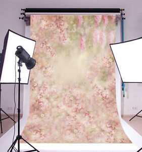 5x7ft Floral Photography Background Flower Vinyl Photo Backdrop Studio Props
