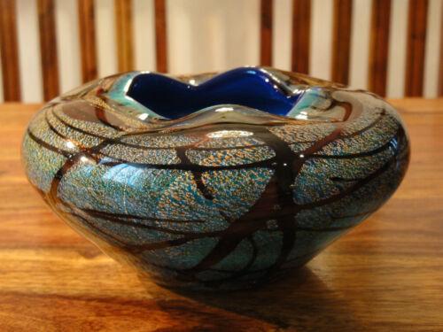 Teelicht Windlicht Vase Kristall Glas Kunst Luxus Stil Murano Schale Handarbeit
