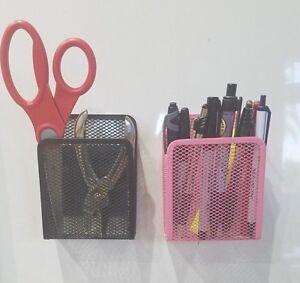 Mesh-Storage-Magnetic-Kitchen-Bath-Locker-Office-School-Makeup-Organizer-Caddy