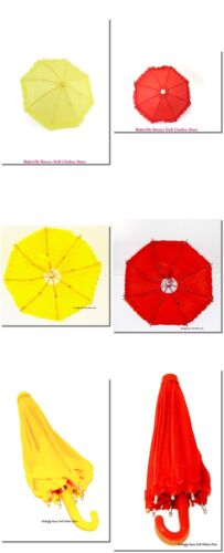 "Ruffle Umbrella Red Or Yellow 18/"" Doll Clothes Accessory For American Girl Dolls"