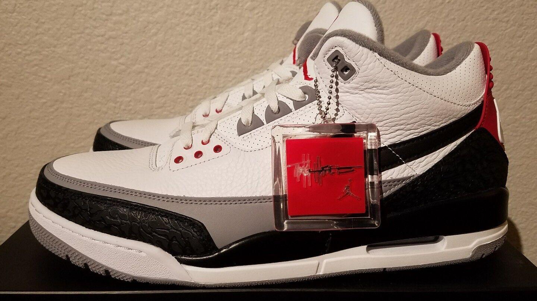 Nike Air Jordan 3 retro Tinker NRG SZ 14 blanco negro / negro blanco / rojo fuego aq3835 160 en mano gran descuento c38f11