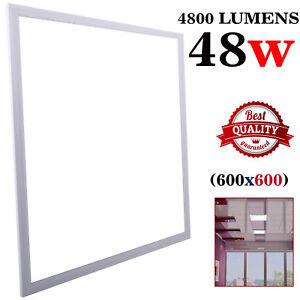 48-W-plafond-suspendu-encastre-DEL-Panneau-Lumiere-blanche-de-bureau-salon-600-x-600-mm