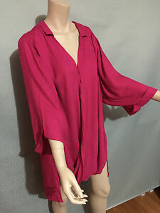 BNWT-Womens-Sz-20-Autograph-Brand-Fuschia-Pink-Cover-Up-Wrap-Jacket-RRP-60