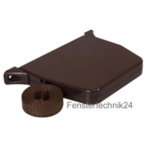 Rolladen Gurtwickler Aufschraubwickler Mini Aufputz 5,0m Gurt  braun Rollladen