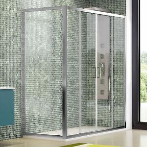 Box doccia 170x70 cm scorrevole cristallo trasparente profili ...