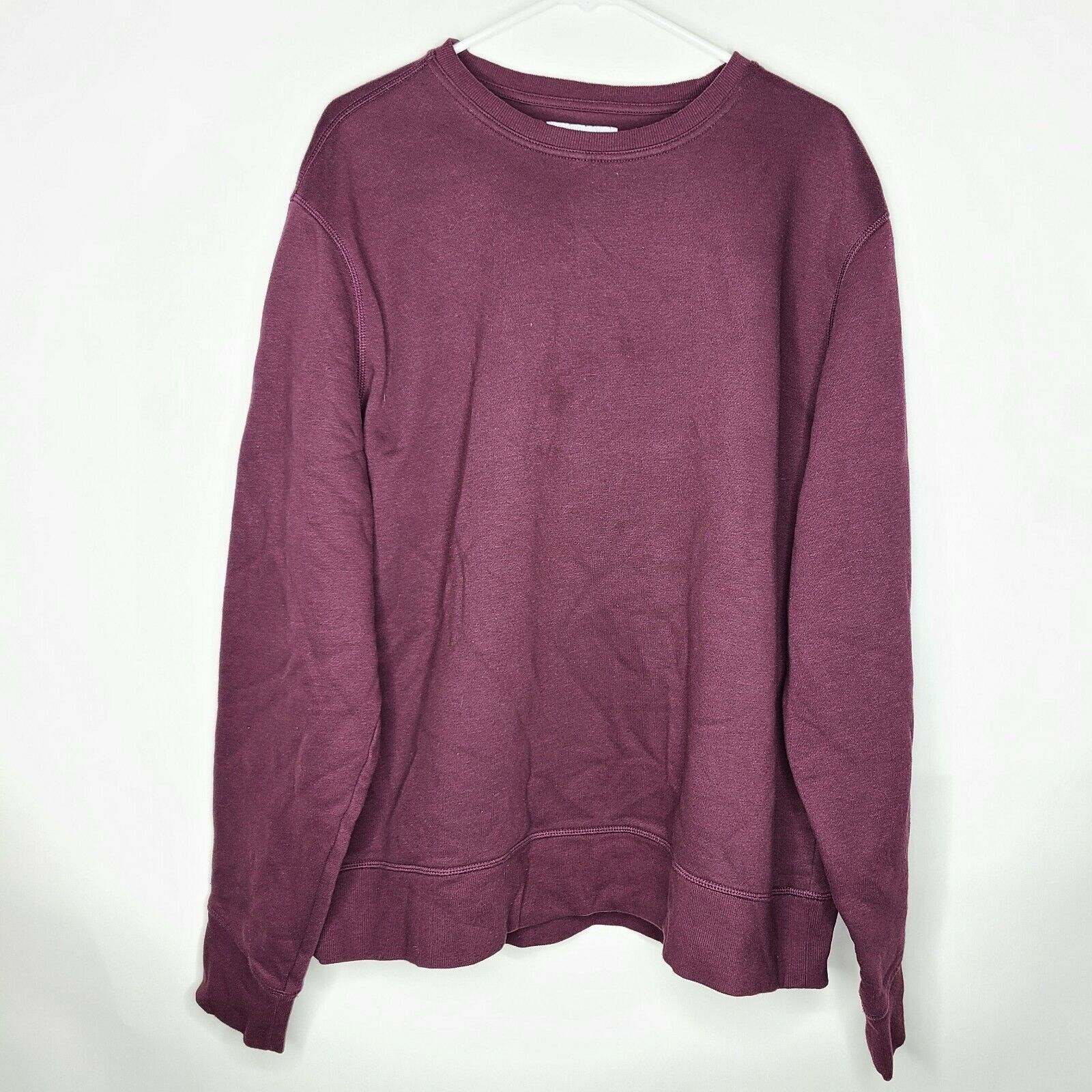 Amazon Essentials Purple Pullover Crew Neck Long Sleeve Sweatshirt Size 2XL