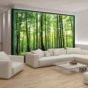 tapete fototapeten tapeten poster wand wald natur ausblick baum fenster 14n495p4 ebay. Black Bedroom Furniture Sets. Home Design Ideas