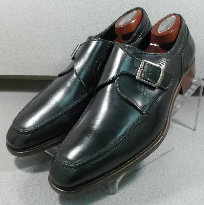 243085 MSi60 Men's Shoe Size 12 M Black Leather Made in Italy Johnston Murphy