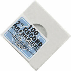 100-7-034-Record-Inner-Sleeves-White-ARCHIVAL-Paper-ACID-FREE-45rpm-07IW