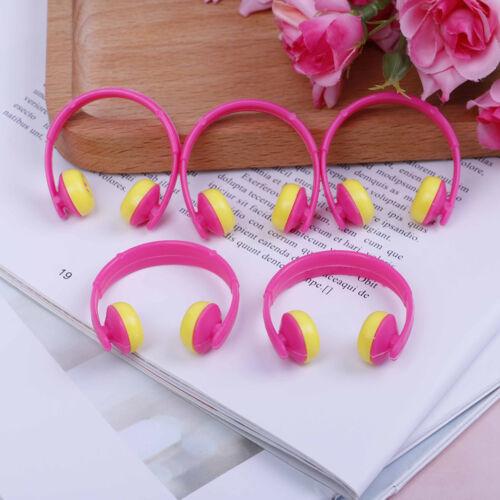 5PCS For Doll acessories plastic headphones multicolor mixed /_H