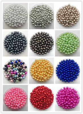 Wholesale 12mm 30pcs//Lot White No Hole Round Acrylic Beads DIY