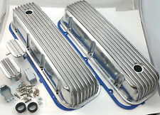 BB Chevy  BBC Tall Finned Polished Aluminum Valve Cover Kit  396 427 454 502 V8