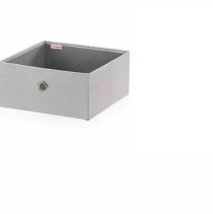 Stoffbox, Stoff Leifheit  Box Kleiderbox Grau 27.5 x 27.5 x 19 cm groß