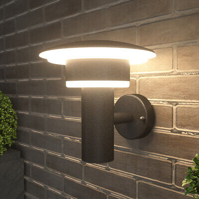 NBHANYUAN Outdoor LED Wall Lights Moden Stainless Steel Metal Patio Silver 9W