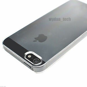 newest collection 4f0b3 0331e Details about For iPhone 5 5S Crystal Clear See-Thru Case Transparent Hard  Thin Snap-on Cover