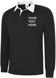Personalised-Embroidered-Long-Sleeve-Black-Rugby-Shirt-XS-3XL