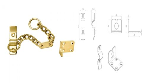 NARROW SECURITY DOOR CHAIN HEAVY DUTY Metal Slide Lock Catch Lock Guard