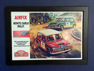 Airfix-Monte-Carlo-Rally-Mini-Cooper-Slot-Car-1967-A4-Size-Framed-Poster-Sign