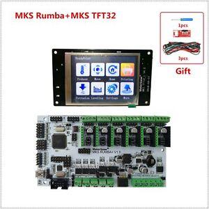 Details about 3D printer motherboard MKS Rumba + MKS TFT32_L display LCD  Rumba-board