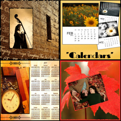 Digital Scenic Photo Backdrops Photoshop psd Calendar Templates Scrap Booking O