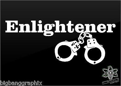 """ENLIGHTENER""decal 50 fifty Shades of Grey inspired handcuffs Car Window Sticker"