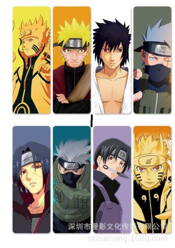 8pcs//set PVC Lesezeichen Bookmarks of  Anime Naruto book mark
